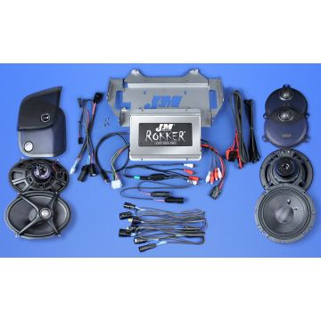 J&M Audio XXR STAGE 5 Extreme 4 Speaker 800 Watt Amp Kit for 2014 and newer Harley Street Glide models