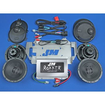 J&M Audio XXR STAGE 5 Extreme 4 Speaker 800 Watt Amp Kit for 2014 and newer Harley Ultra Limited CVO models