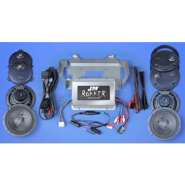 J&M Audio XXR STAGE 5 Extreme 4 Speaker 800 Watt Amp Kit for 2014 and newer Harley Ultra Classic models