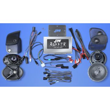 J&M Audio XXR STAGE 5 Extreme 4 Speaker 800 Watt Amp Kit for 2015 and newer Harley Road Glide models