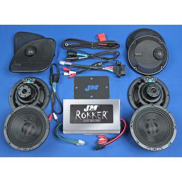 J&M Audio XXR STAGE 5 Extreme 4 Speaker 800 Watt Amp Kit for 2015 and newer Harley Road Glide Ultra CVO models
