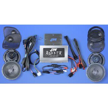 J&M Audio XXR STAGE 5 Extreme 4 Speaker 800 Watt Amp Kit for 2016 and newer Harley Road Glide Ultra models