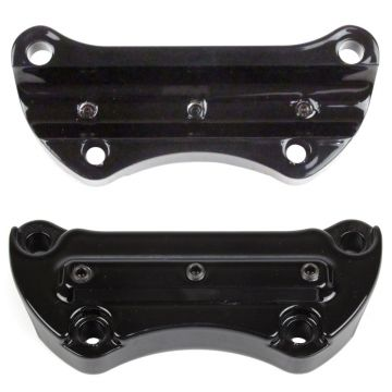 Hill Country Customs Gloss Black Gorilla Grabber Handlebar Riser Top Clamp for most 1990 and newer Harley-Davidson Dyna Softail and Sportster models