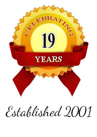 Established 2001 Celebrating 19 years
