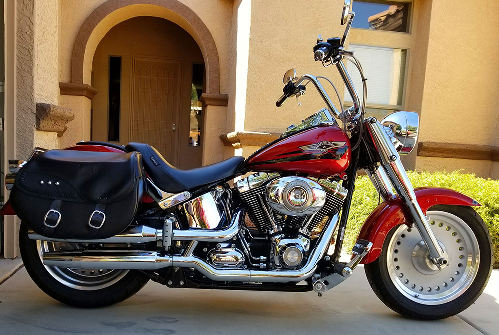 2008 Softail Fat Boy with 12 inch apes
