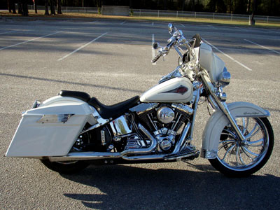 Heritage Softail with HCC chrome 14 inch Apes
