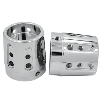 RC Components Chrome Gatlin Front Axle Nut Covers for 2000-2007 Harley-Davidson Touring Models