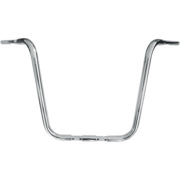 1 1/4 inch Buffalo Bars Chrome 16 inch Ape Hangers for Springers