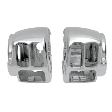 Chrome Handlebar Switch Housings for 2011-2015 Harley-Davidson Softail models