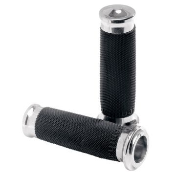 PM Performance Machine Chrome Contour Renthal Grips for 1985 & Newer Harley-Davidson models