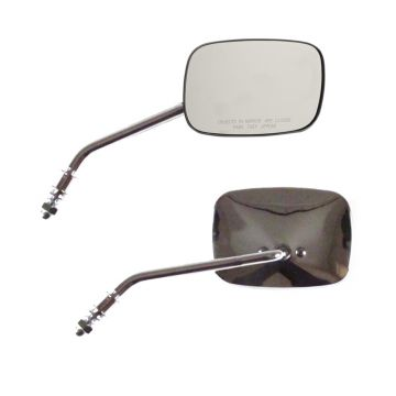 "Chrome Rectangular 5"" x 3.5"" OEM Style Long Stem Mirrors for Harley-Davidson models"