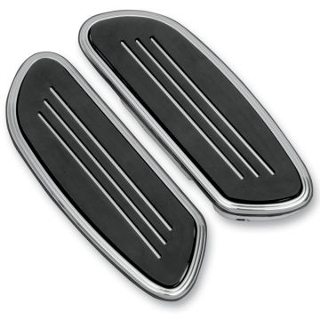 Chrome Streamliner Styled Passenger Floor Boards for 1997 and Newer Harley-Davidson Softail Touring models
