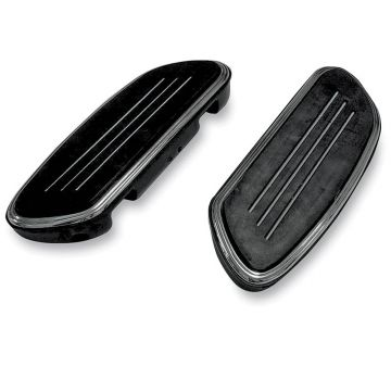 Black Streamliner Styled Passenger Floor Boards for 1997 & Newer Harley-Davidson Softail & Touring models