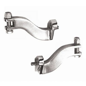 Chrome Passenger Footpeg Mounting Brackets for 1996-2013 Harley-Davidson Touring