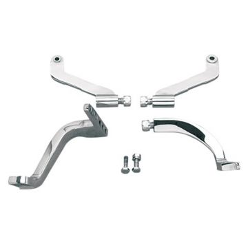 Chrome Floorboard Mount Brackets for 1996-2008 Harley-Davidson Touring models