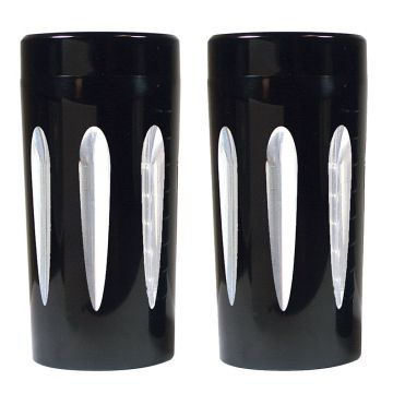 V-Factor Deep Cut Black Billet Front Fork Slider Covers for 1997-2013 Harley-Davidson Touring models