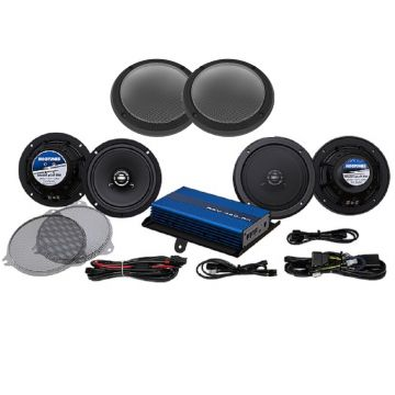 Hogtunes 200 Watt 4 Speaker Amplifier Kit for 2014 and newer Harley-Davidson Ultra, Limited and Trike models
