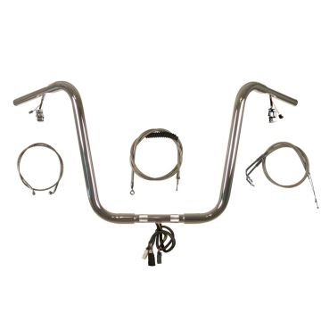Build Your Own Custom Softail Fat Boy 1990-1995 PREWIRED Ape Hangers Handlebar DIY kit