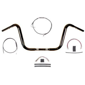 "1 1/4"" BBlack 10"" Ape Hanger Bar Kit 2008-2013 Harley Road Glide King w/ABS"