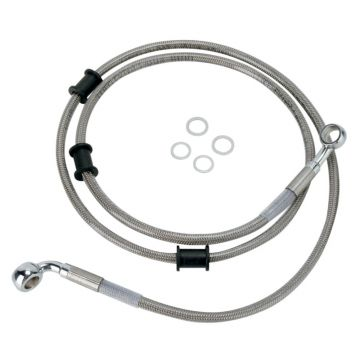 "+10"" Over Stock Front Stainless Braided Brake Line for 2008-2011 Harley-Davidson Softail Fatboy & 2008 FLSTC models"
