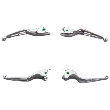 Chrome 3 Slot Wide Blade Ergonomic Brake and Clutch Levers for 2014-2016 Harley-Davidson Touring Models