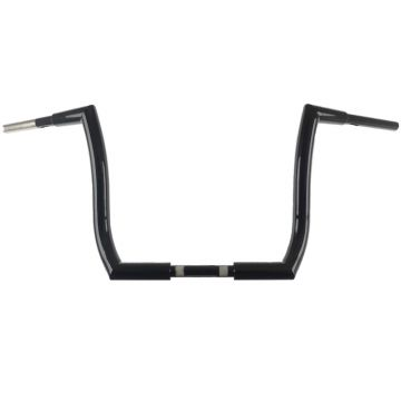 HCC 1 1/2 inch Hell Bent Bagger Ape 14 inch Ape Hanger  Handlebars Gloss Black for 2014 and Newer Harley Davidson Motorcycles