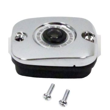 Chrome Front Brake Master Cylinder Cover for 2014 and Newer Harley-Davidson Trike models