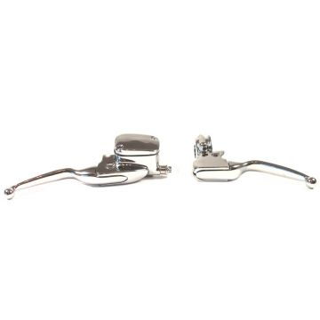 Chrome Handlebar Controls for 1996 & Newer Harley-Davidson Dyna, Softail and Sportster models with Single Disc Front Brakes