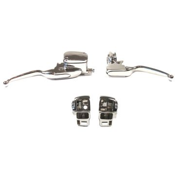 Chrome Handlebar Control kit for 2008-2013 Harley-Davidson Ultra Classic, Limited, Road King & FLTRU with Cruise