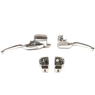 Chrome Handlebar Control kit for 2008-2013 Harley-Davidson Electra Glide & Street Glide models without Cruise