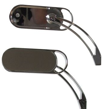 Oval Mirrors with Decorative Pocket Curved Cut-Out Stems for Harley-Davidson models