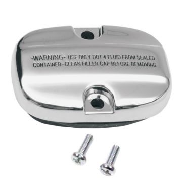 Chrome Rear Brake Master Cylinder Cover for 2008 and Newer Harley-Davidson Touring models