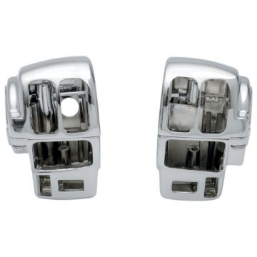 Chrome Switch Housings for 2007-2013 Harley-Davidson Road King with Cruise and Ultra Classic models