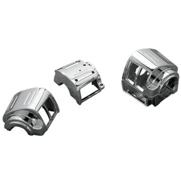 Chrome Handlebar Switch Housings for 1982-1995 Harley-Davidson Dyna Softail and Sportster models