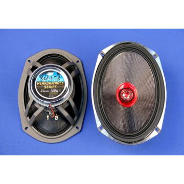 "J&M Audio Rokker 6x9"" Speaker kit for 1998 and newer Harley-Davidson with Aftermarket Saddlebag Lids"
