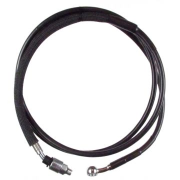 "Black Vinyl Coated +2"" Hydraulic Clutch Line for 2014-2016 Harley-Davidson Touring models"