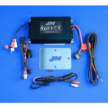 J&M Audio 400 Watt 2 Channel Amp Kit for 2015 and newer Harley-Davidson Road Glide models