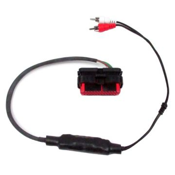 J&M Audio Isolated RCA Input Amp Harness for Rear Speaker Output on 2006-2013 Harley Touring models with Radios