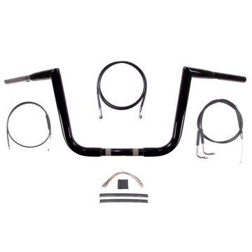 """1 1/4"""" BBlack 10"""" Jarhead Ape Handlebar Kit 2007-2010 Harley-Davidson Softail"""