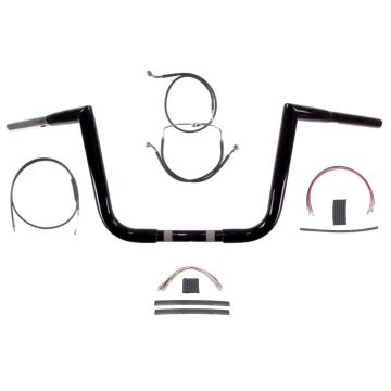 "1 1/4"" BBlack 10"" Jarhead Handlebar Kit 2008-2013 Harley Road Glide King No ABS"