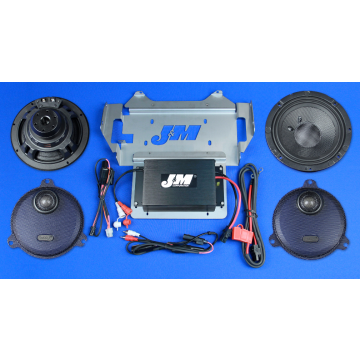 J&M Audio Performance 2 Speaker and 200 Watt Amplifier Kit for 2014 and Newer Harley-Davidson Street Glide Ultra Classic models