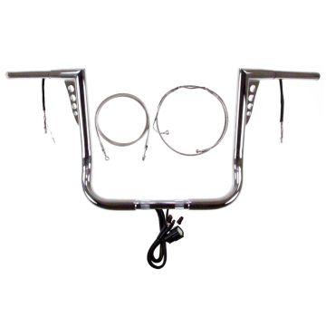 HCC HOT SHOT Ape Hanger PREWIRED Handlebar KIT for 2014-2020 Street Glide, Electra Glide, and Ultra Classic Harley Davidson