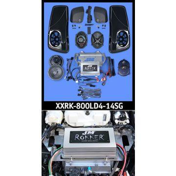 J&M Audio XXR Extreme 4 Speaker 800 Watt Amp and Lid Kit for 2014 and newer Harley Street Glide models