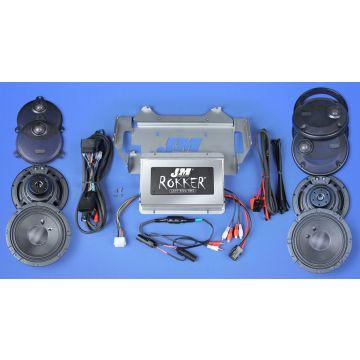 J&M Audio XXR Extreme 4 Speaker 800 Watt Amp Kit for 2014 and newer Harley Ultra Classic models