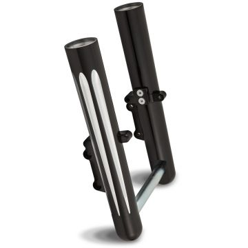 Arlen Ness Deep Cut Black Hot Legs Fork Legs for 2000-2007 Harley-Davidson Touring models