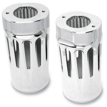 Arlen Ness Deep Cut Chrome Fork Boots for 1990-2013 Harley-Davidson Touring models