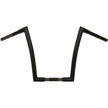 "1 1/4"" TODDS Cycle Strip Handlebars 14 inch Flat Black"