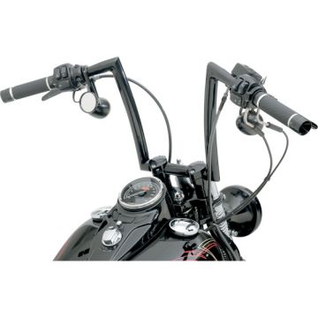 "1 1/4"" TODDS Cycle Strip Springer Handlebars 12 inch Gloss Black"
