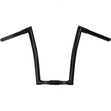 "1 1/4"" TODDS Cycle Strip Springer Handlebars 14 inch Gloss Black"