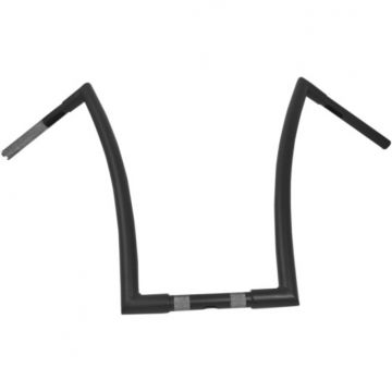 "1 1/4"" TODDS Cycle Strip Handlebars 20 inch Flat Black"